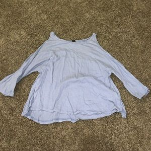 Free People 3/4 Length Tee With Arm Cutouts - NWOT